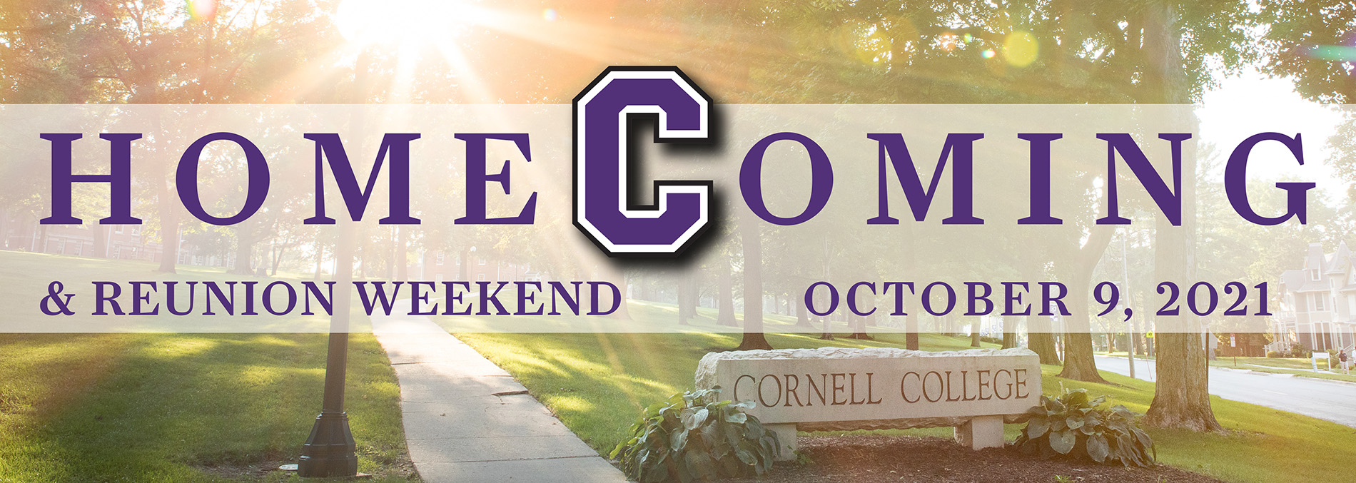 Homecoming 2021 banner, Oct. 9
