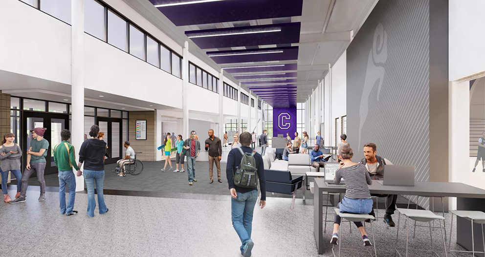 Small Sports lobby rendering